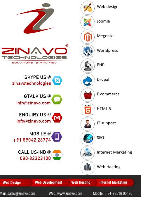 One stop web solutions providers ? zinavo technologies
