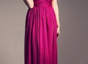 Fashionable Fuchsia Chiffon Dress by Fabryan