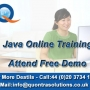 JAVA Online Training by 7+ Years Experience Faculty - Attend Free Demo