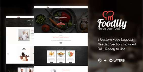 Foodlly | layers style kit – restaurant menu