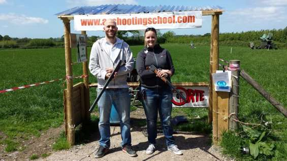 Learning technique at aa shooting school