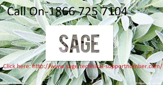 Sage technical phone support +1866 725 7104