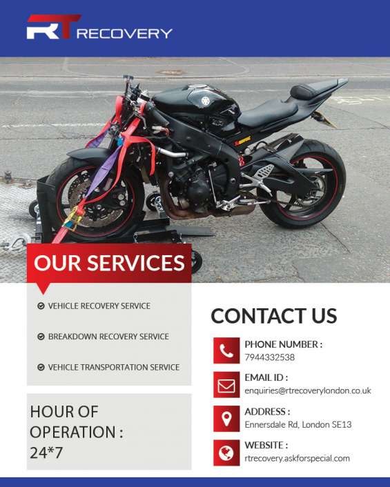 Best vehicle recovery service south london | r t recovery