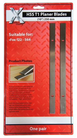 """260mm fox f22-564-250 planer blades 10""""jointer knives one pair online"""