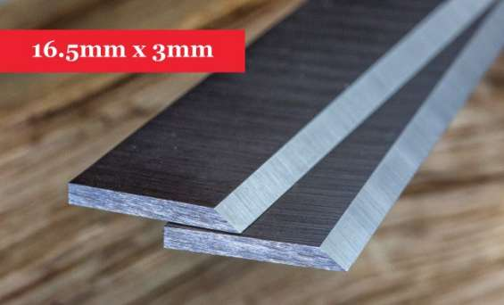 Online planer knives 16.5mm x 3mm-400mm long x 16.5mm high x 3mm thick