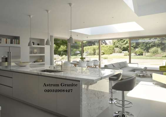 Pictures of Bianco eclipse granite kitchen worktop at affordable in london 10