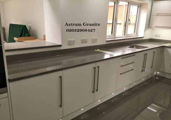 Pictures of Bianco eclipse granite kitchen worktop at affordable in london 8