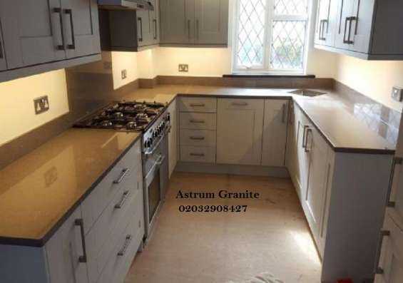 Pictures of Bianco eclipse granite kitchen worktop at affordable in london 6