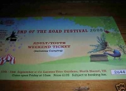 End of the Road festival weekend ticket incl. camping
