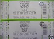 2 GLASVEGAS Tickets, London Scala, 23/09/08, Standing