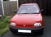 Nissan micra auto red