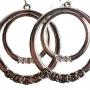 Guess Double Hoop Rhinestone Earrings