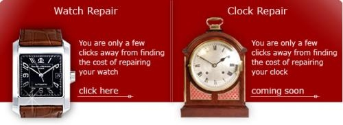 Clock watch repair services