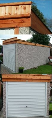 Concrete sectional garages, spar wall finish 8ft6in x 16ft3in £975 free installation