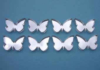Shatterproof butterfly big wings mirror -8 mirrors (each 1.5cm) £3.49