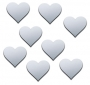Shatterproof Heart Mirror -8 Tiny Mirrors (Each 1.5x1.5cm)