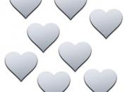 Shatterproof heart mirror -8 tiny mirrors (each 1.5x1.5cm)