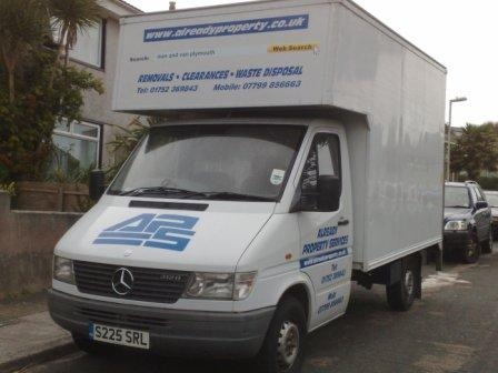 Man and van removal services in plymouth