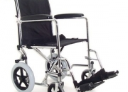 Folding chrome steel transit wheelchair