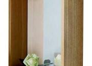 Oak Veneer Square Shelved Mirror
