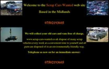 Scrap cars banbury and southam 07502 193 605