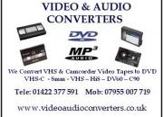 Hi8 Digital 8 DV60 8mm Camcorder Tapes & VHS Converted to DVD