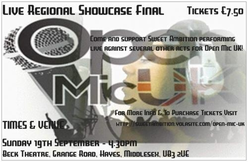 Sweet ambition - open mic uk live show