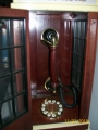 1930s Replica Telephone in glass and wood Telephone box