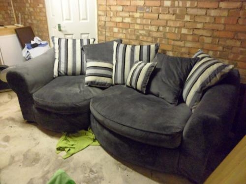 Large grey sofa - excellent condition