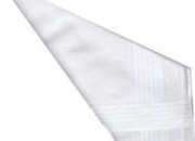 12 Mens White Satin Cotton Handkerchiefs 16 inch x 16 inch