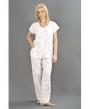 Womens Nightwear Polycotton Jersey Knitted Pyjama Suit