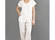 Womens nightwear polycotton jersey knitted pyjama suit