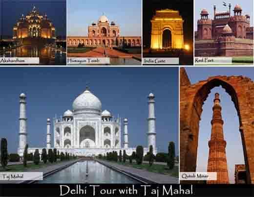 Experience the mysterious land - delhi with taj mahal tour