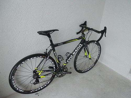 2012 colnago c59, 50cm sloping. campy super record ti, ec9o sl carbon clinchers