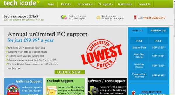 Get annual pc support from techicode @ £ 99.99