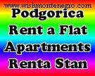 Short term accommodation in podgorica, rent a flat, rent an apartment, daily rental