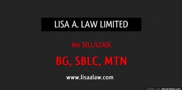 We offer seasoned and fresh cut bank instrument for lease/sale, such as bg, sblc, mtn, ban