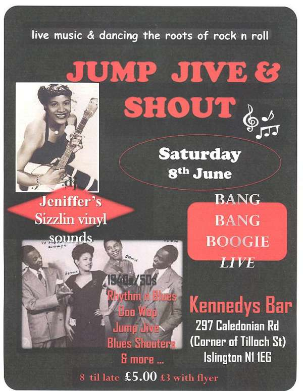 Jump jive and shout jive night with guests bang bang boogie