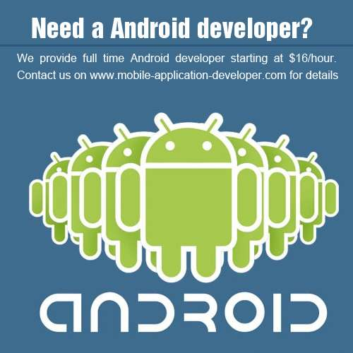 Need a android developer............