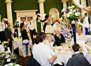 Party entertainment with singing waiters