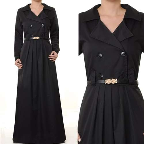 Best aden dress - black - muslim clothing