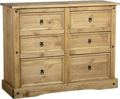 Mexican pine corona 6 drawer chest