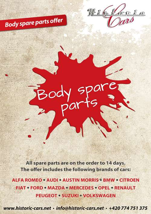 Offer of new body spare parts for many brands