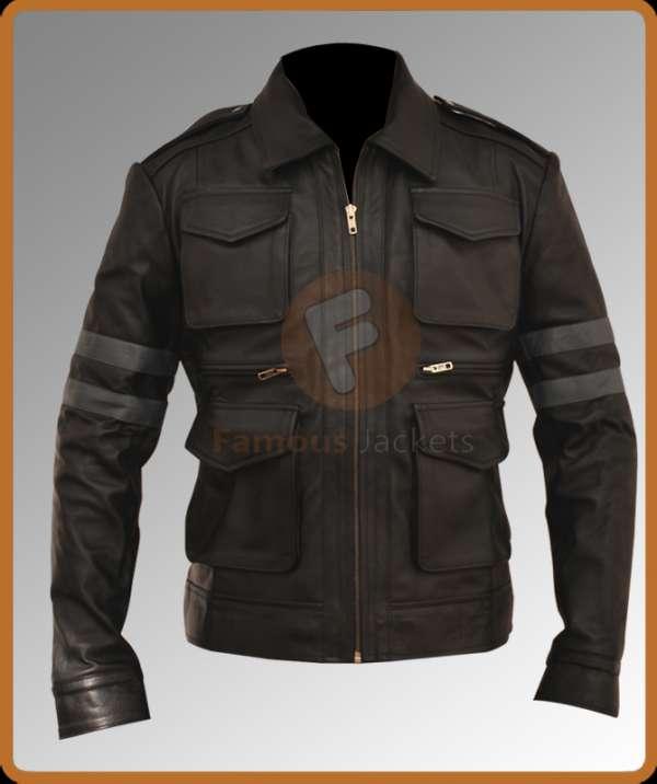 Resident evil 6 leon leather jacket