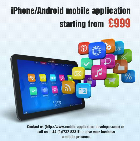 Iphone/android mobile application starting from £999