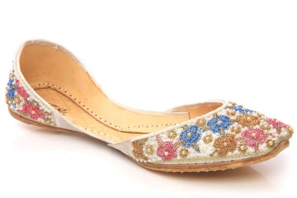 Buy online womens jeweled leather shoes