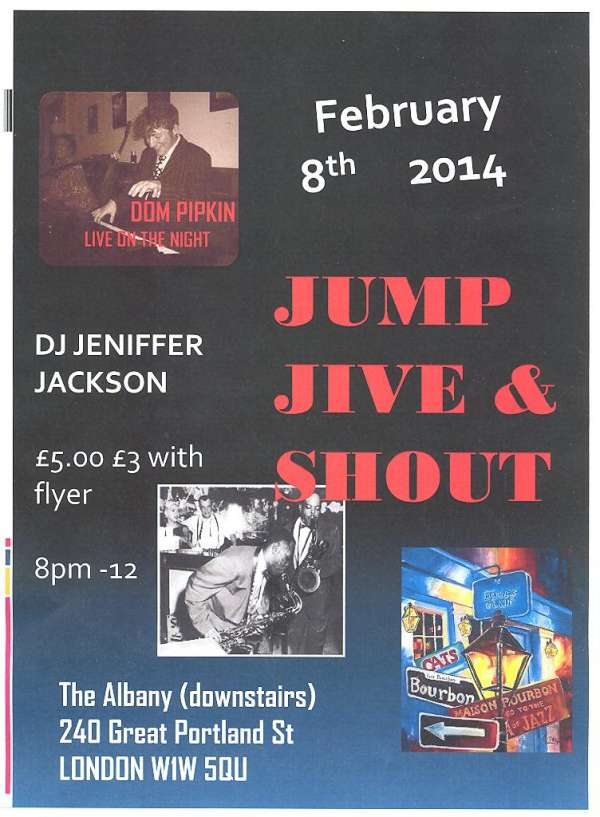Jump jive and shout jive night with live music