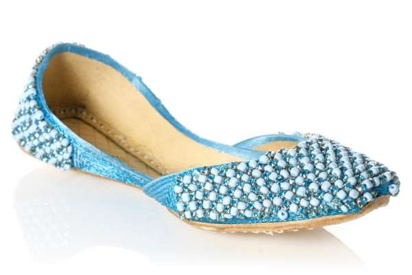 Buy online girls leather beads adorn pump