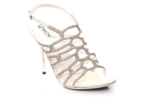 Buy online women evening heeled sandals