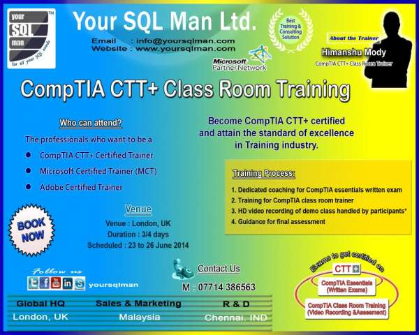 Comptia ctt+ training in london - offer ends soon